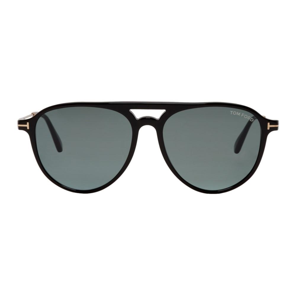 トム フォード レディース メガネ・サングラス【Black & Gold Carlo 02 Sunglasses】