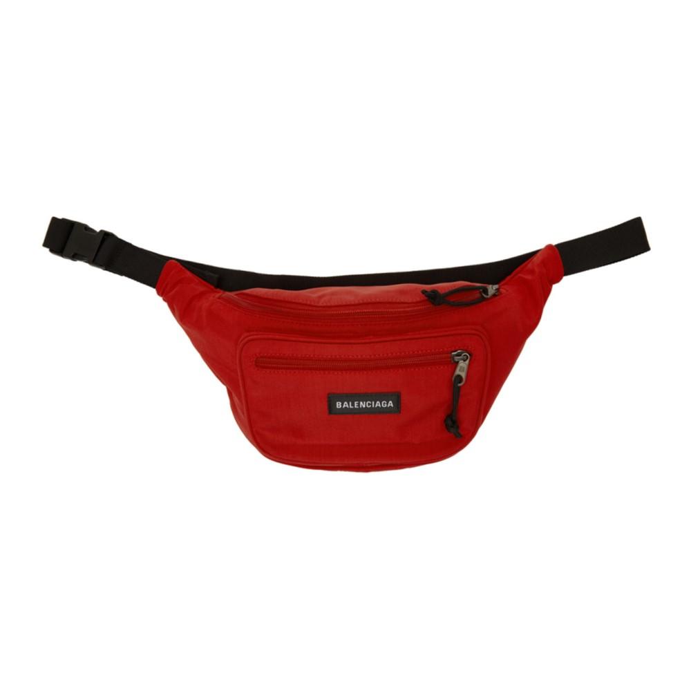 バレンシアガ レディース バッグ ボディバッグ・ウエストポーチ【Red Nylon Explorer Belt Pouch】