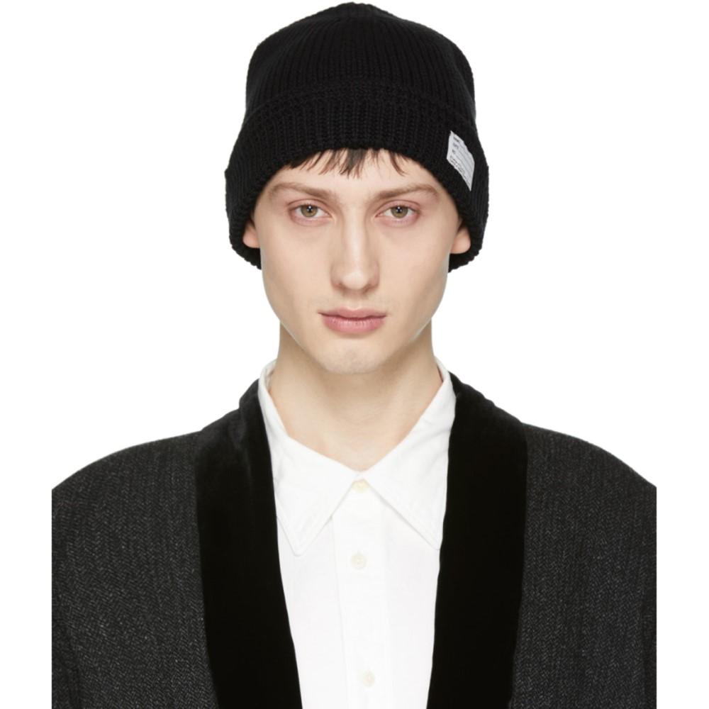 ビズビム メンズ 帽子 ニット【Black Knit Beanie】