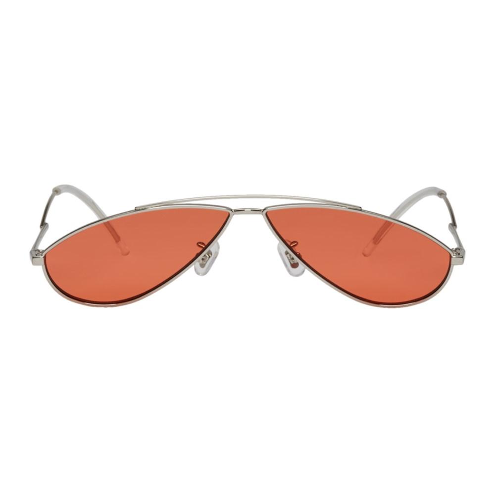 ジェントルモンスター メンズ メガネ・サングラス【Silver & Orange Kujo Sunglasses】
