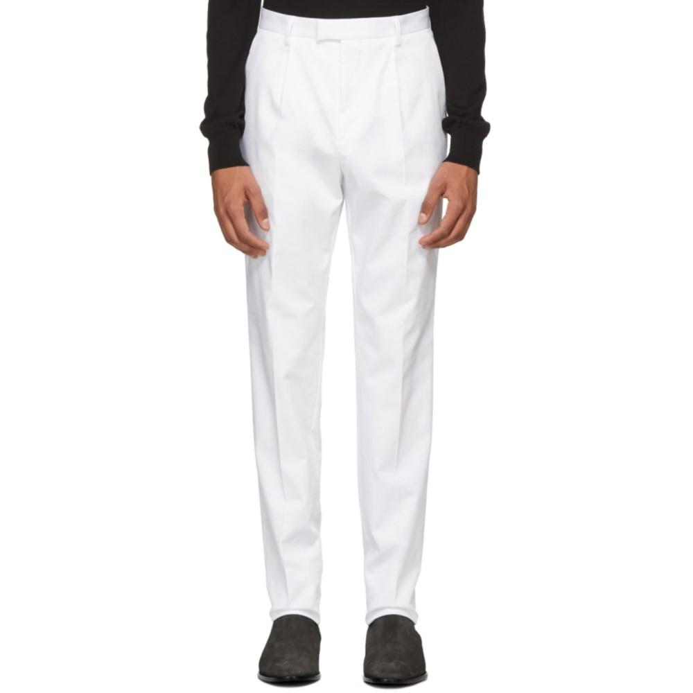 ヒューゴ ボス メンズ ボトムス・パンツ スキニー・スリム【White T-Borden Slim Trousers】