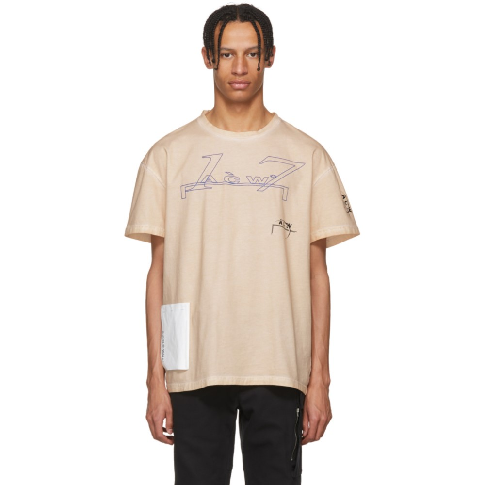 アコールドウォール メンズ トップス Tシャツ【Pink Leavers T-Shirt】