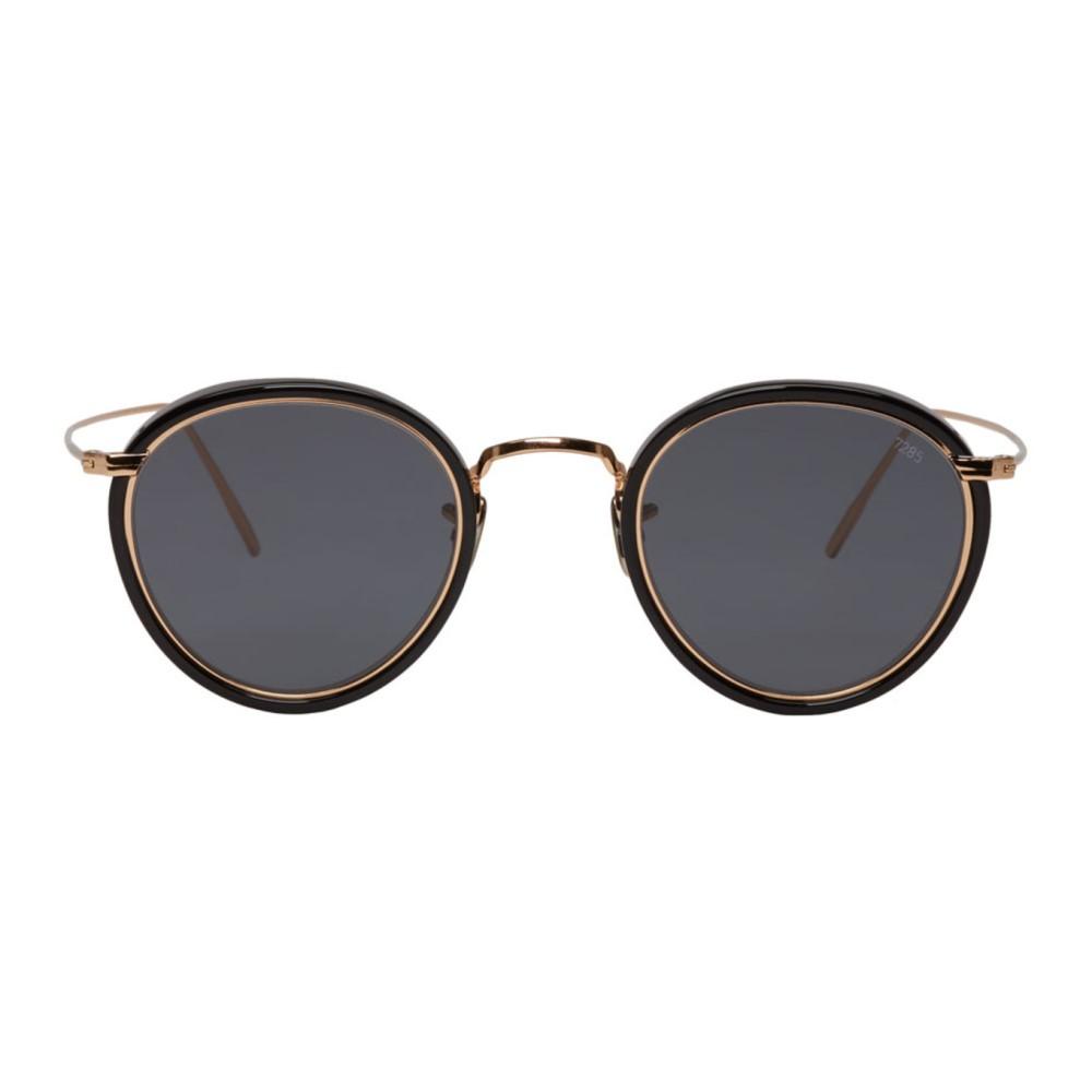 アイヴァン メンズ メガネ・サングラス【Black & Gold 'Model 717E' Sunglasses】