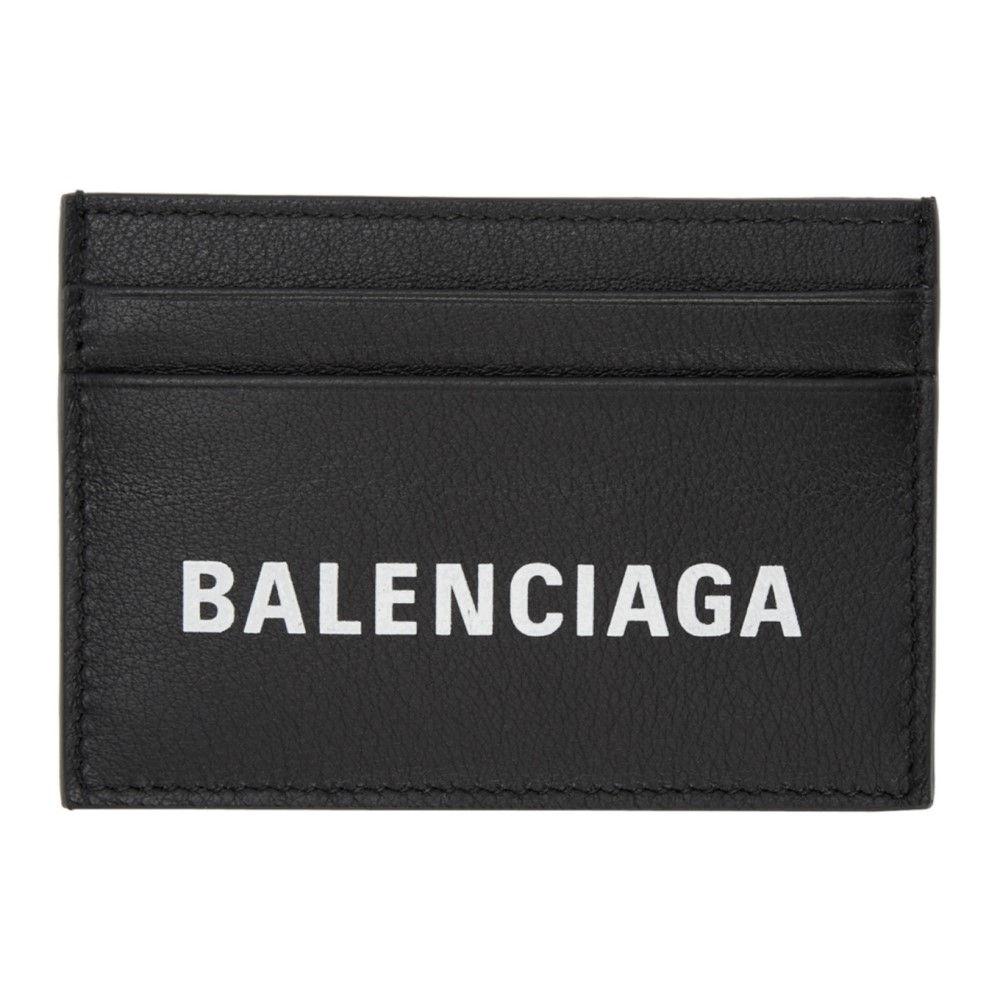 バレンシアガ メンズ カードケース・名刺入れ【Black Everyday Logo Card Holder】