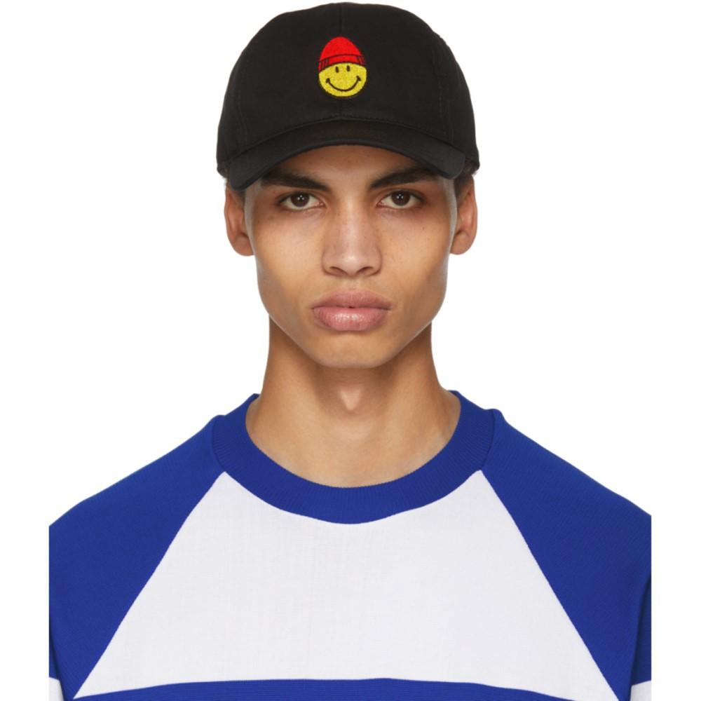 アミアレクサンドルマテュッシ メンズ 帽子 キャップ【Black Smiley Edition Cap】