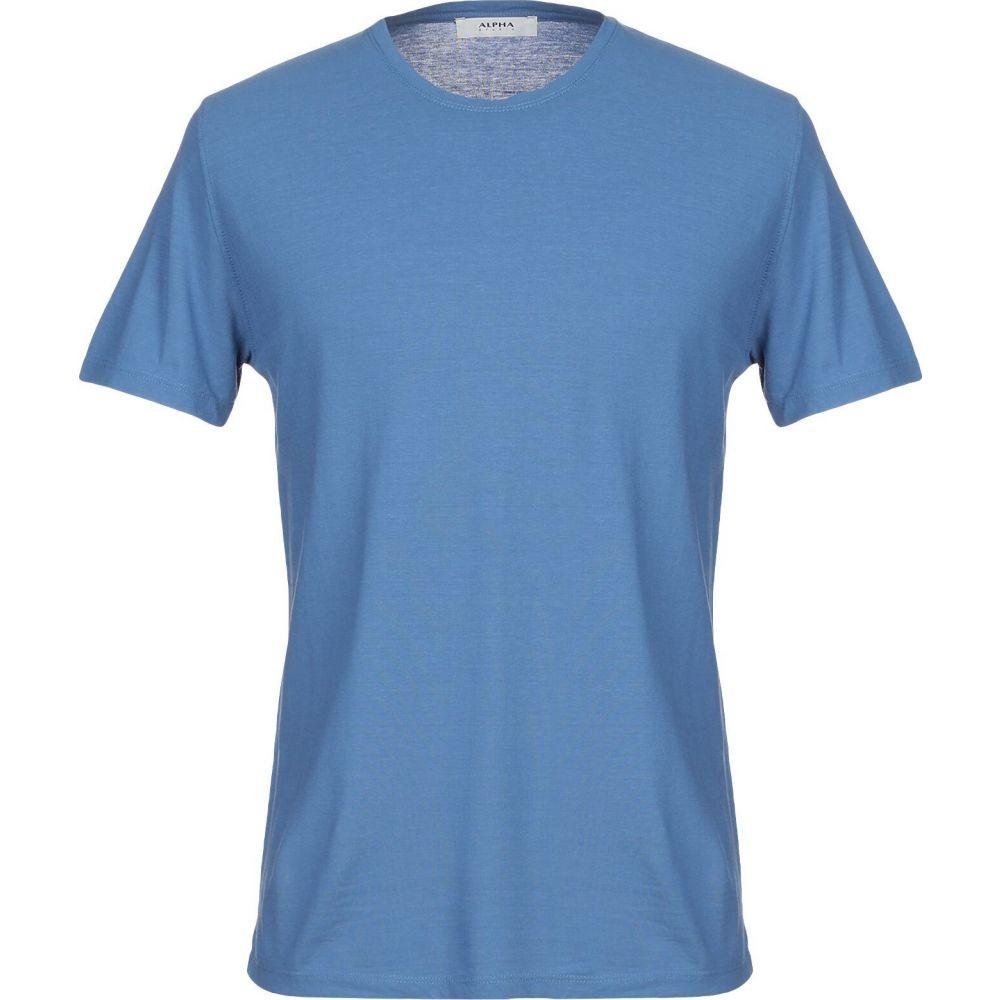 アルファス テューディオ ALPHA STUDIO メンズ Tシャツ トップス【t-shirt】Blue