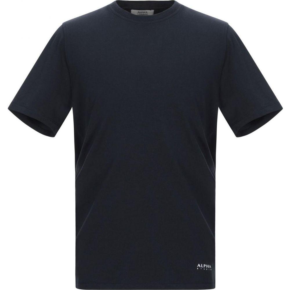 アルファス テューディオ ALPHA STUDIO メンズ Tシャツ トップス【t-shirt】Dark blue