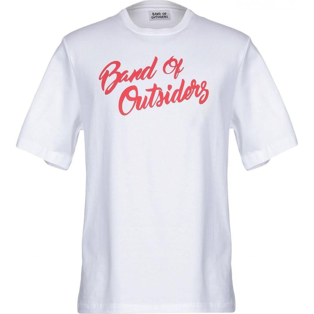 バンドオブアウトサイダーズ BAND OF OUTSIDERS メンズ Tシャツ トップス【t-shirt】White