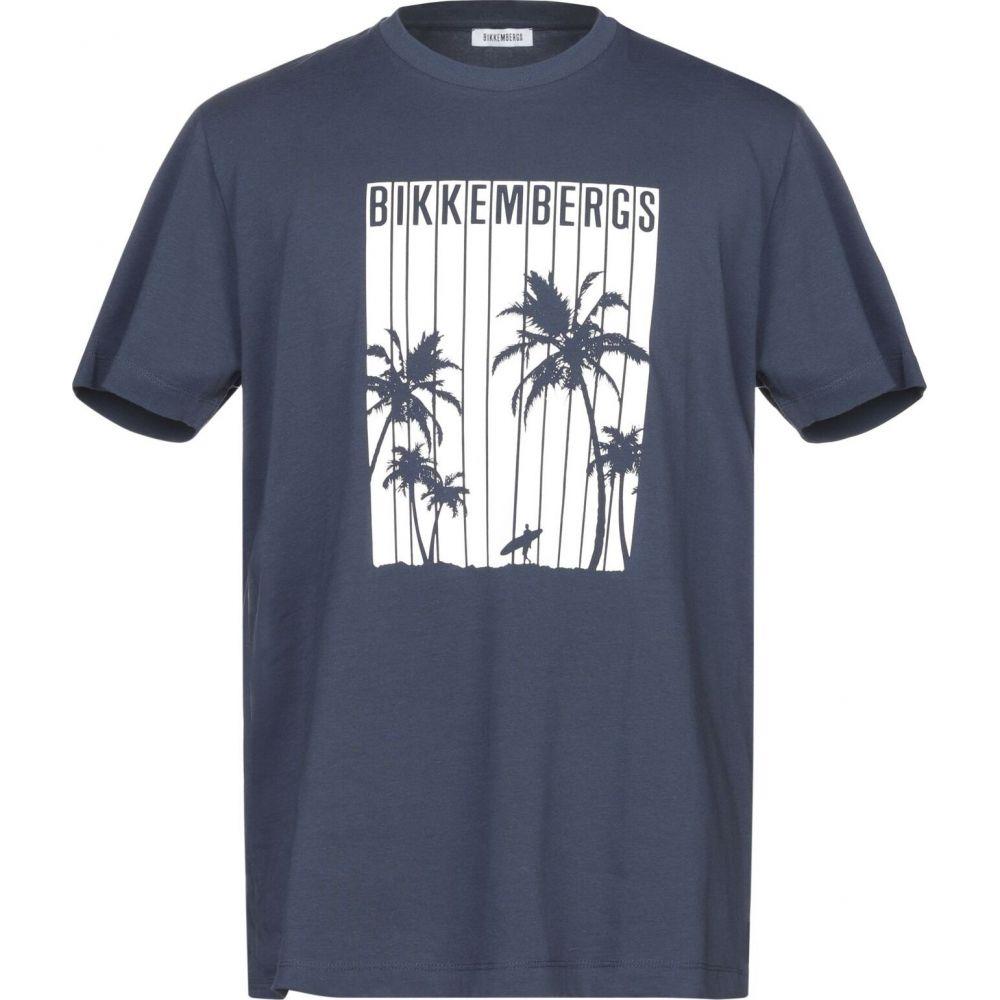 blue メンズ Tシャツ トップス【t-shirt】Dark BIKKEMBERGS ビッケンバーグ