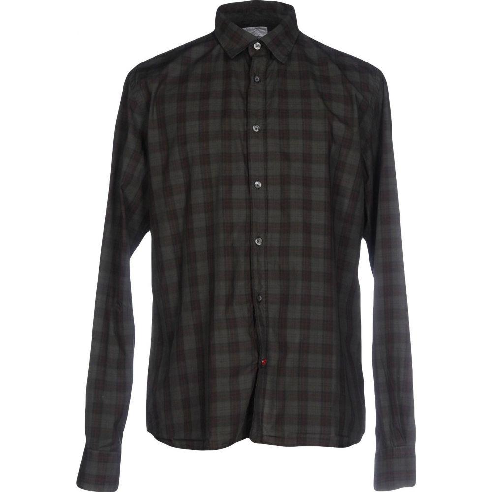 ピューテリー PEUTEREY メンズ シャツ トップス【checked shirt】Steel grey