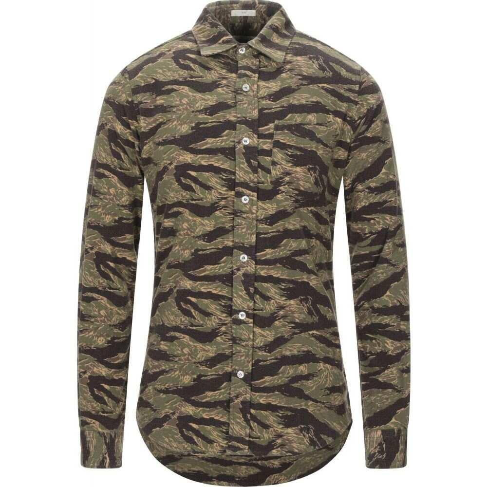 ロイロジャース ROY ROGER'S メンズ シャツ トップス【patterned shirt】Military green