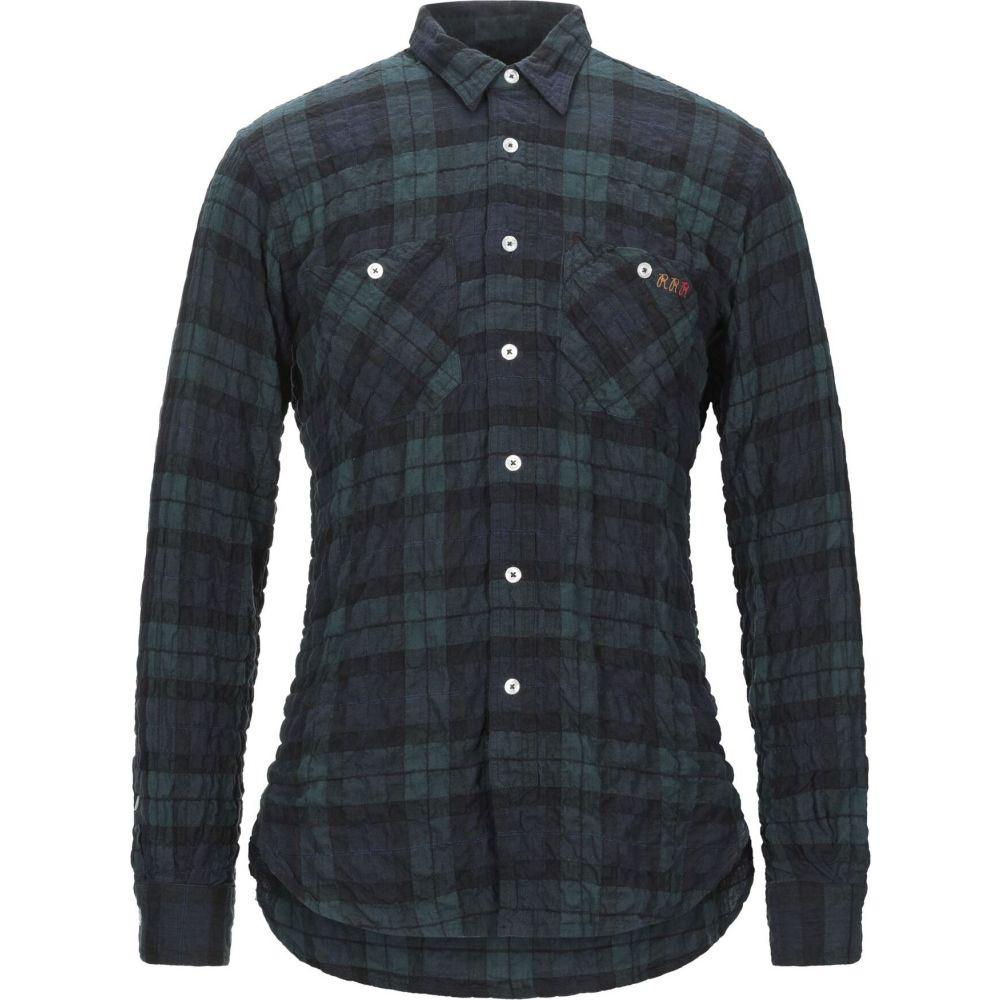 ロイロジャース ROY ROGER'S メンズ シャツ トップス【checked shirt】Deep jade