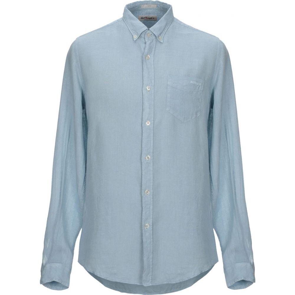 ロイロジャース ROY ROGER'S メンズ シャツ トップス【linen shirt】Sky blue