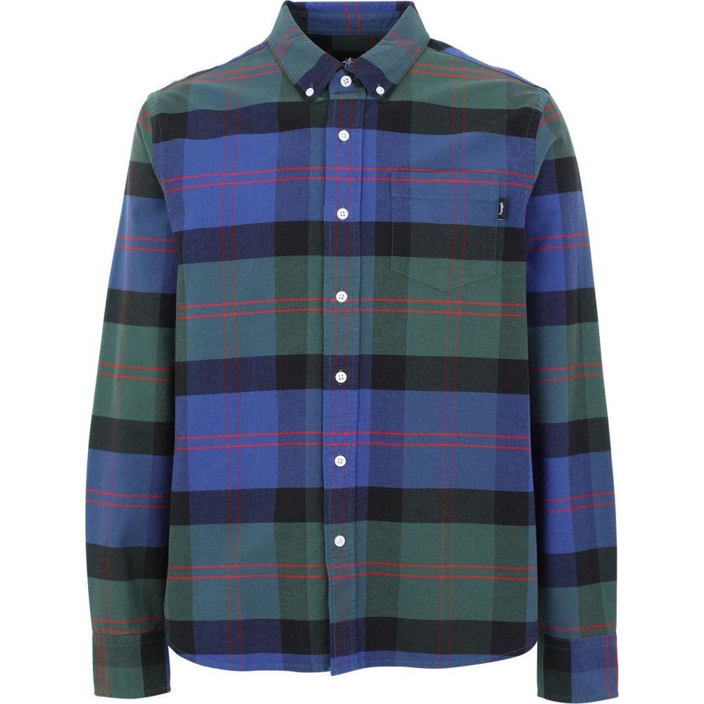ステューシー STUSSY メンズ シャツ トップス【classic oxford ls shirt checked shirt】Green