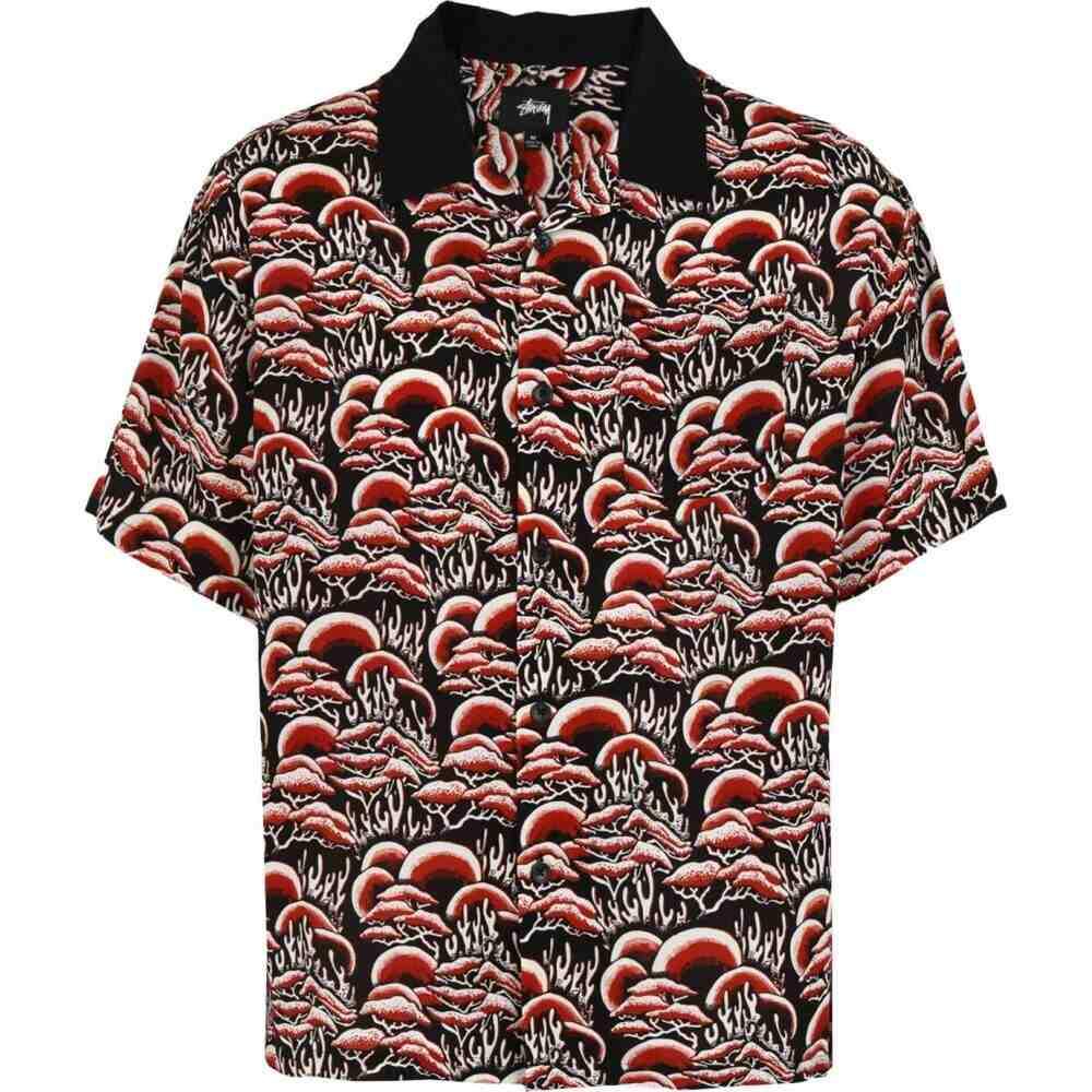 ステューシー STUSSY メンズ シャツ トップス【coral pattern shirt patterned shirt】Black