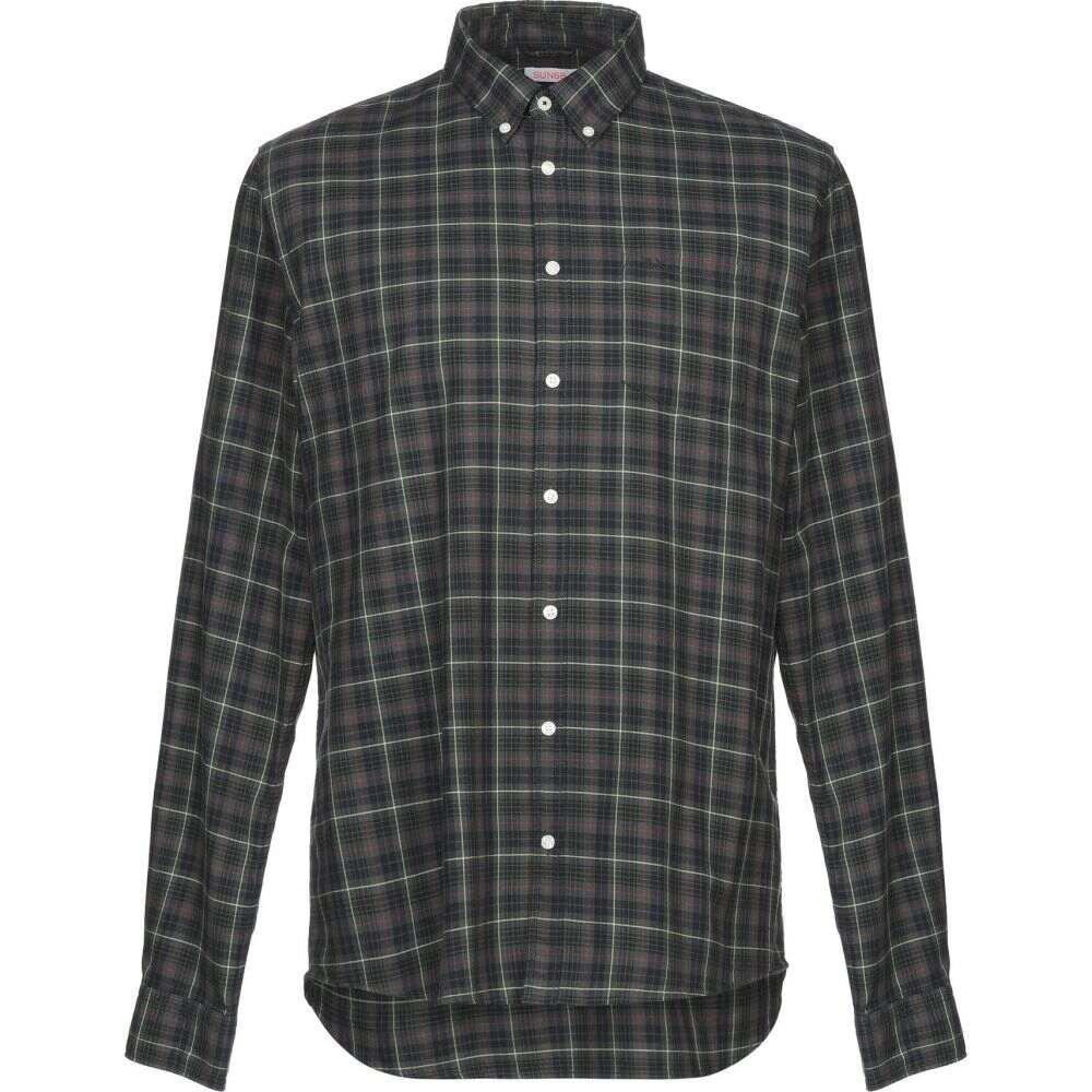 サン シックスティーエイト SUN 68 メンズ シャツ トップス【checked shirt】Green