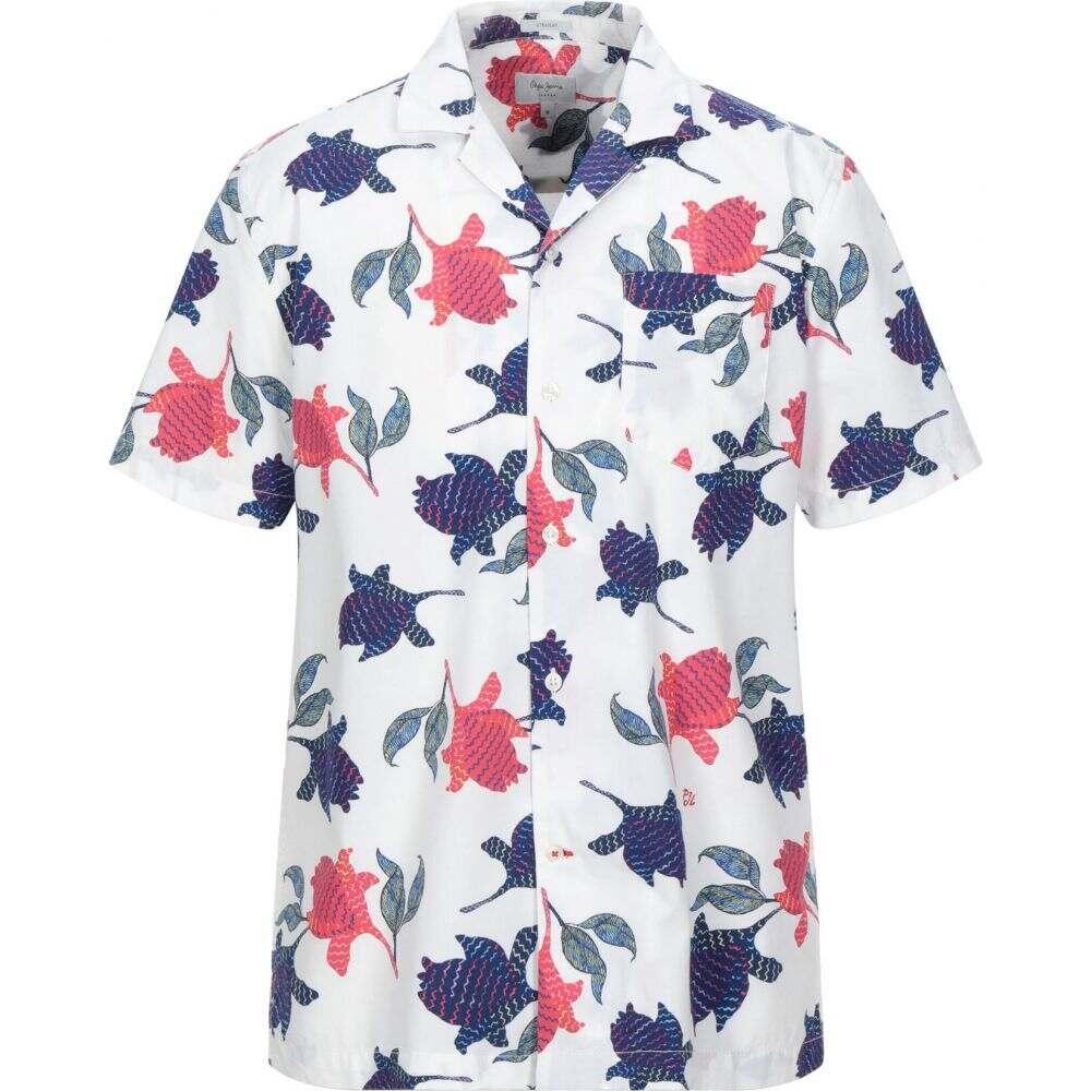 ペペジーンズ PEPE JEANS メンズ シャツ トップス【patterned shirt】White