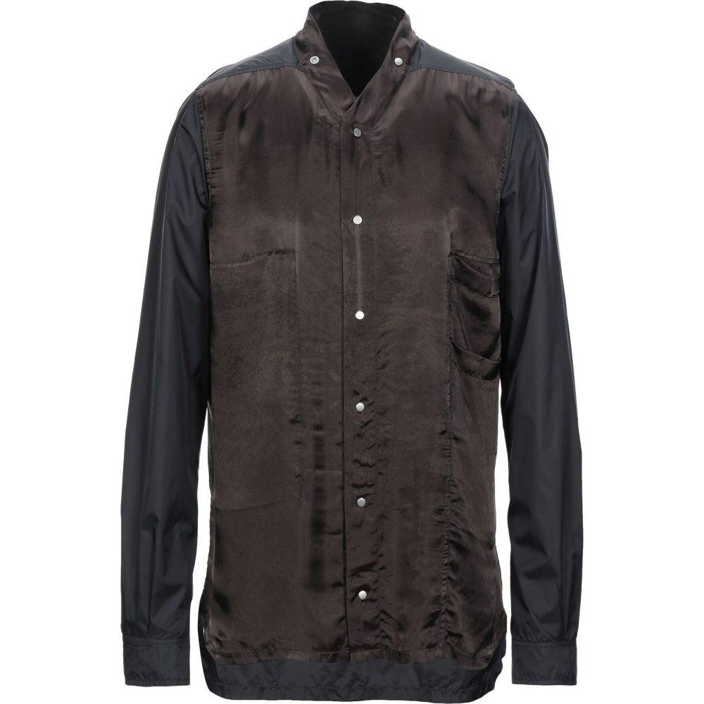 リック オウエンス RICK OWENS メンズ シャツ トップス【patterned shirt】Dark brown