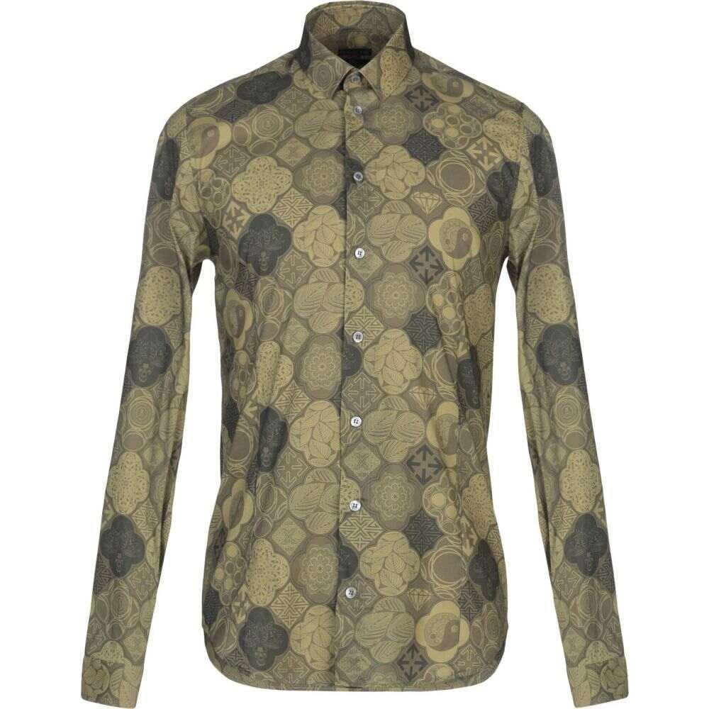 パトリツィア ペペ PATRIZIA PEPE メンズ シャツ トップス【patterned shirt】Military green