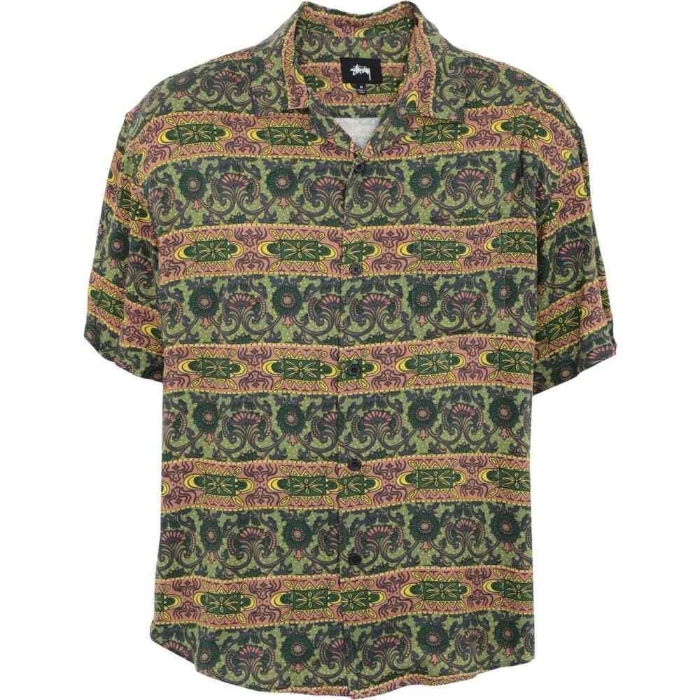 ステューシー STUSSY メンズ シャツ トップス【baroque shirt patterned shirt】Green