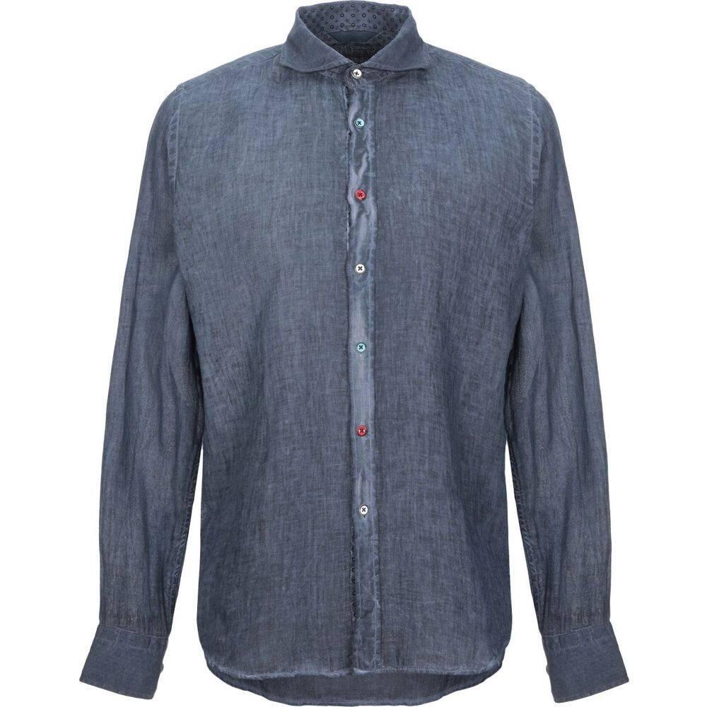 センス SSEINSE メンズ シャツ トップス【linen shirt】Dark blue