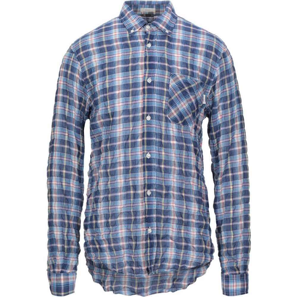 ロイロジャース ROY ROGER'S メンズ シャツ トップス【checked shirt】Bright blue