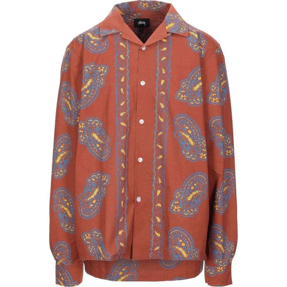 ステューシー STUSSY メンズ シャツ トップス【shirts long sleeve patterned shirt】Brown