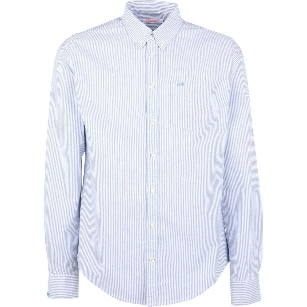 サン シックスティーエイト SUN 68 メンズ シャツ トップス【striped shirt】Blue