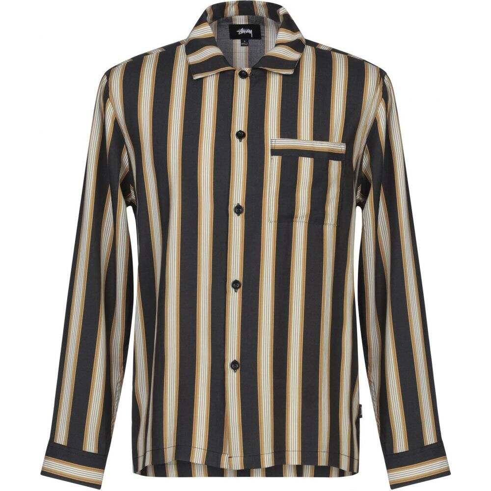 ステューシー STUSSY メンズ シャツ トップス【cove striped ls shirt striped shirt】Black