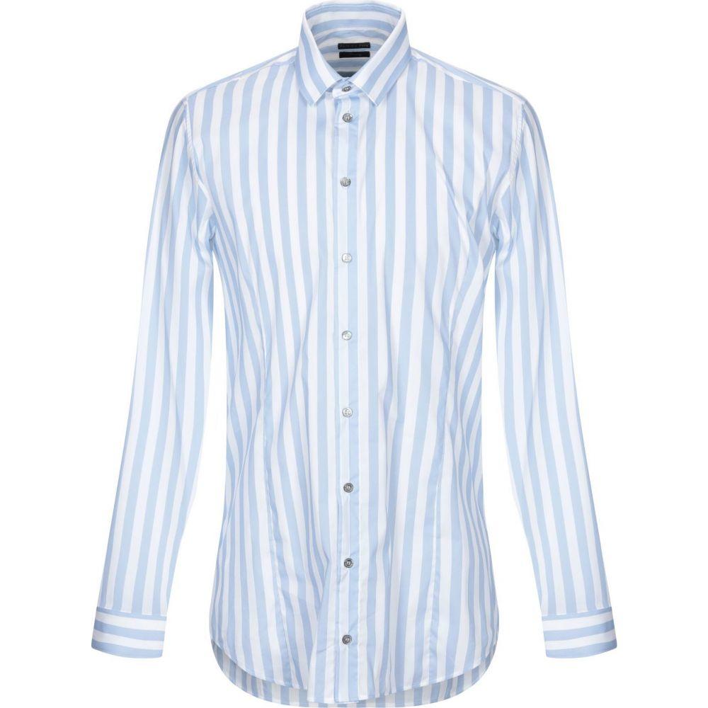 パトリツィア ペペ PATRIZIA PEPE メンズ シャツ トップス【striped shirt】Sky blue