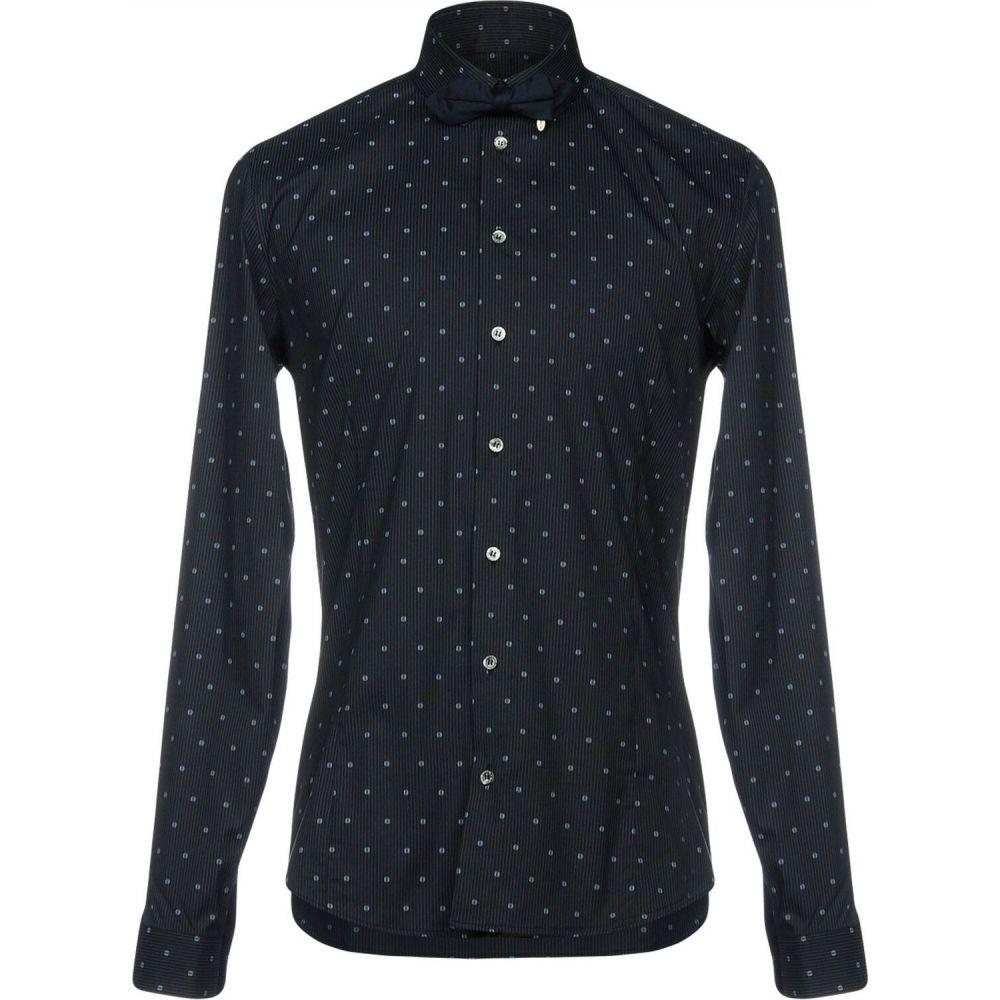 パトリツィア ペペ PATRIZIA PEPE メンズ シャツ トップス【striped shirt】Dark blue