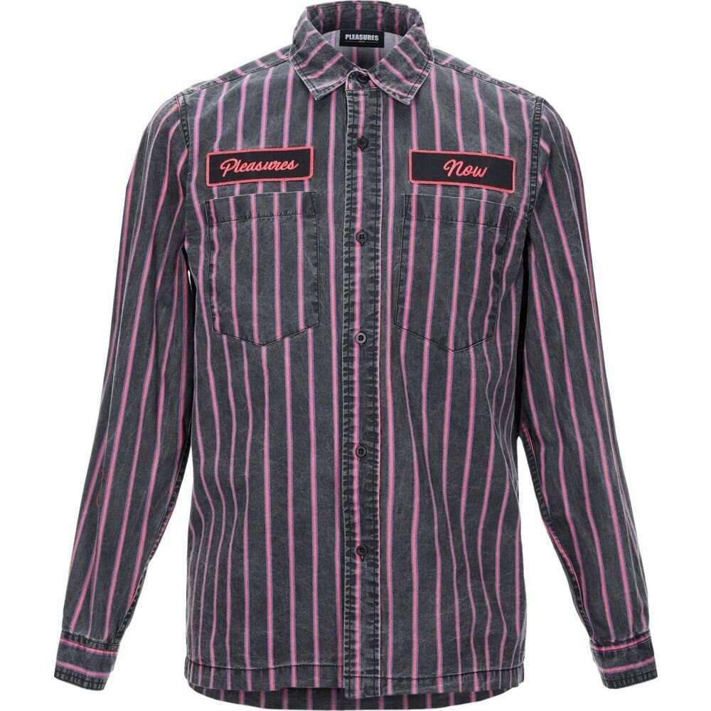 プレジャーズ PLEASURES メンズ シャツ トップス【striped shirt】Steel grey