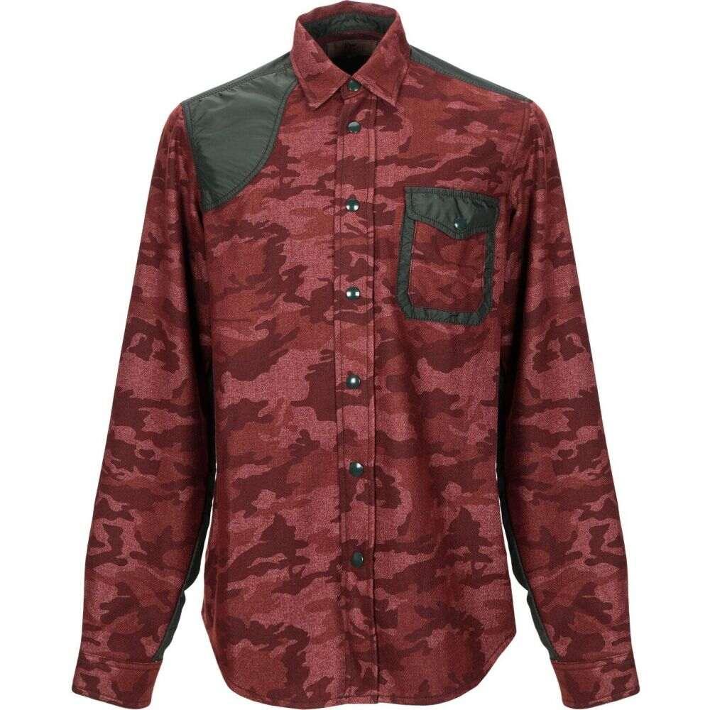 ロイロジャース ROY ROGER'S メンズ シャツ トップス【patterned shirt】Brick red