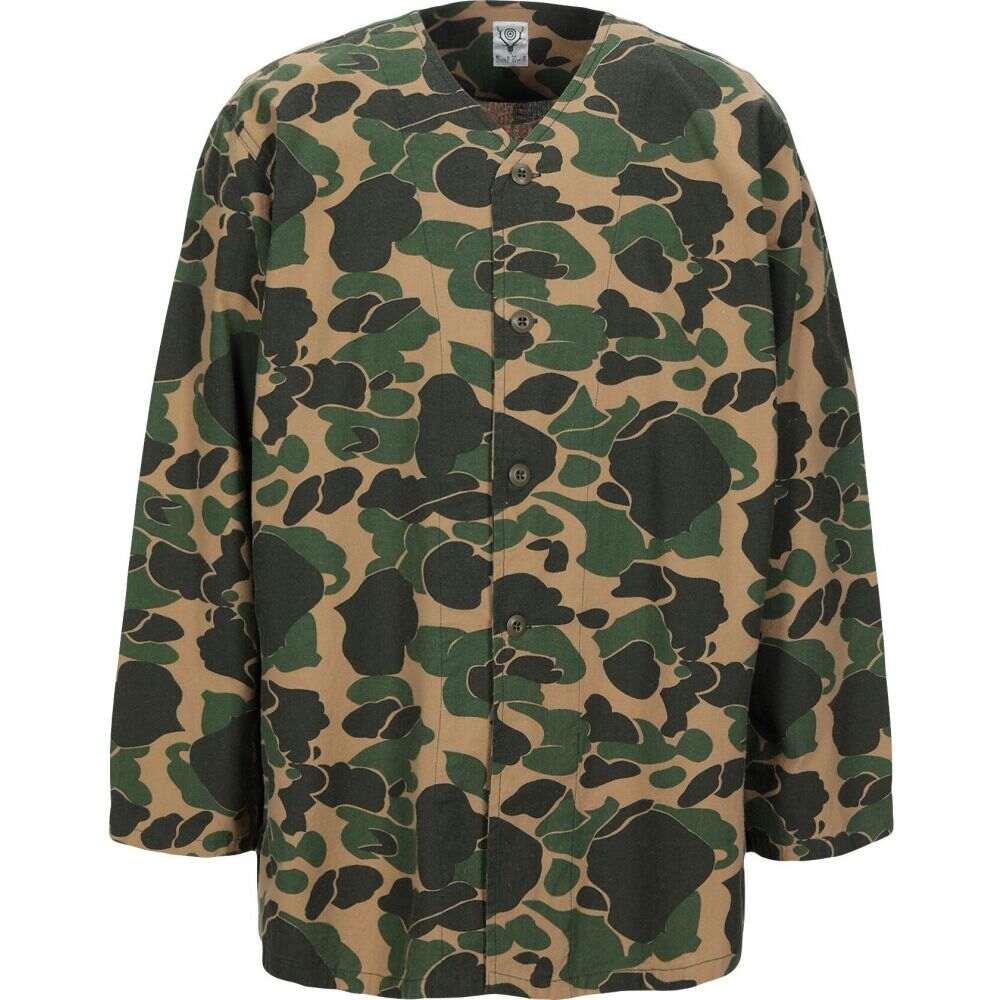 サウス2 ウエスト8 SOUTH2 WEST8 メンズ シャツ トップス【patterned shirt】Military green