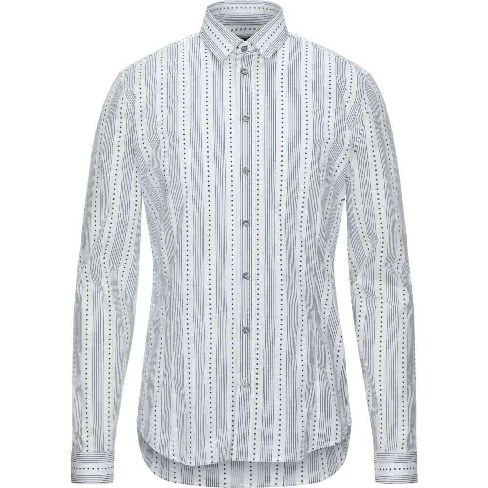 パトリツィア ペペ PATRIZIA PEPE メンズ シャツ トップス【striped shirt】White