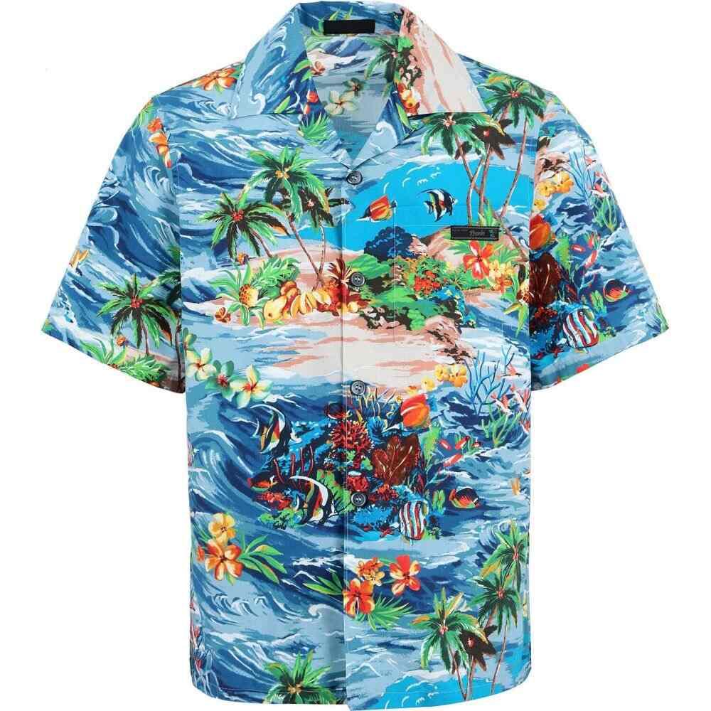 プラダ PRADA メンズ シャツ トップス【patterned shirt】Blue