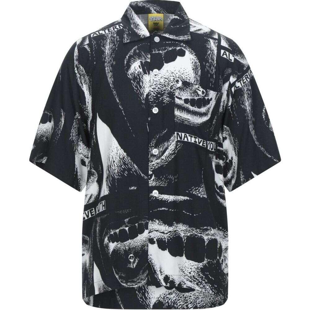ポーラー POLAR メンズ シャツ トップス【patterned shirt】Black