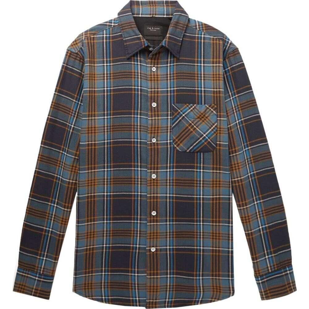 ラグ&ボーン RAG & BONE メンズ シャツ トップス【checked shirt】Slate blue