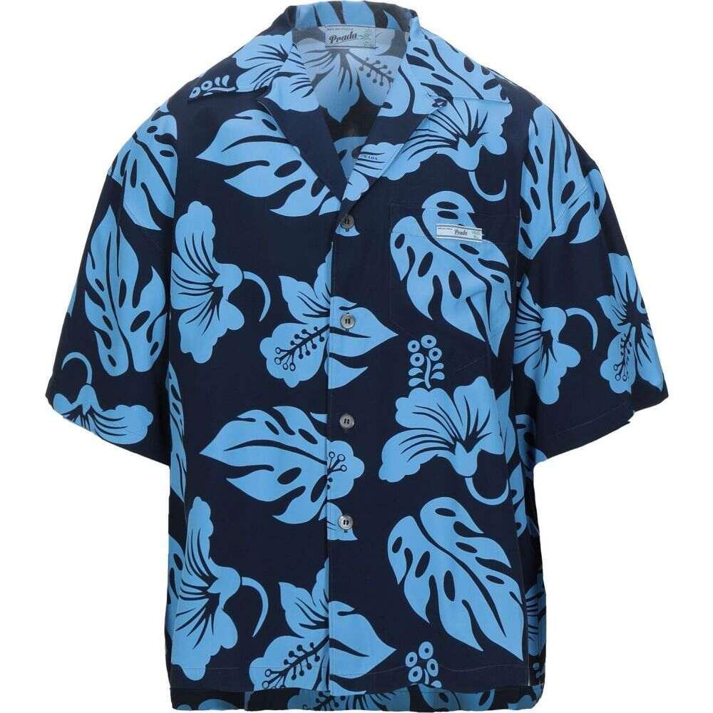 プラダ PRADA メンズ シャツ トップス【patterned shirt】Sky blue