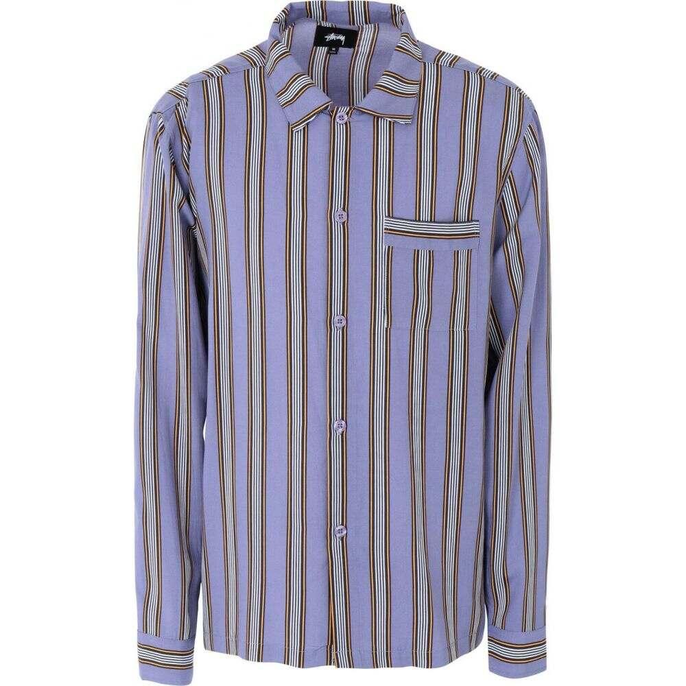 ステューシー STUSSY メンズ シャツ トップス【cove striped ls shirt striped shirt】Purple