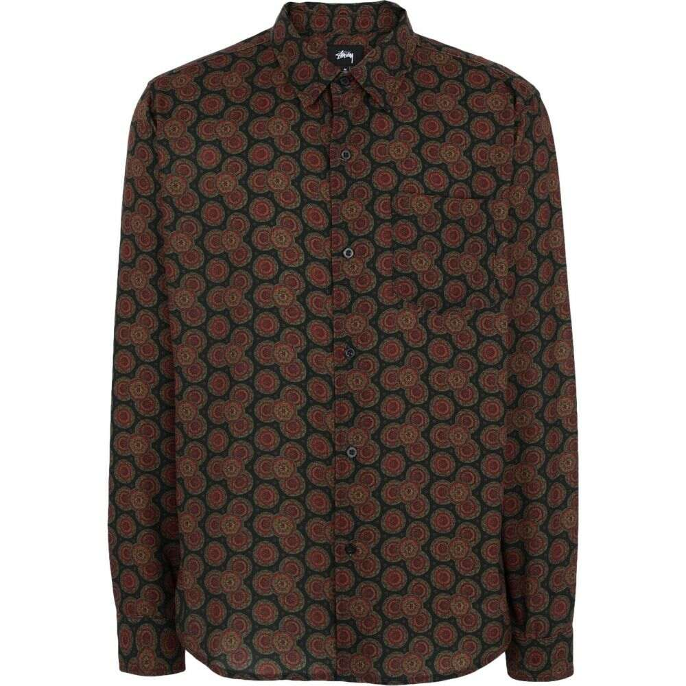 ステューシー STUSSY メンズ シャツ トップス【circle paisley pattern shirt patterned shirt】Dark green