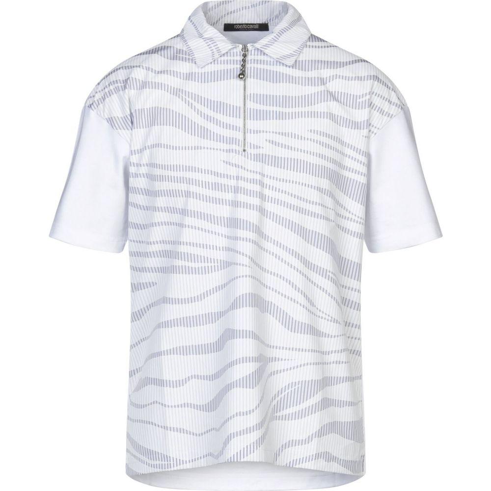 ロベルト カヴァリ ROBERTO CAVALLI メンズ シャツ トップス【striped shirt】White