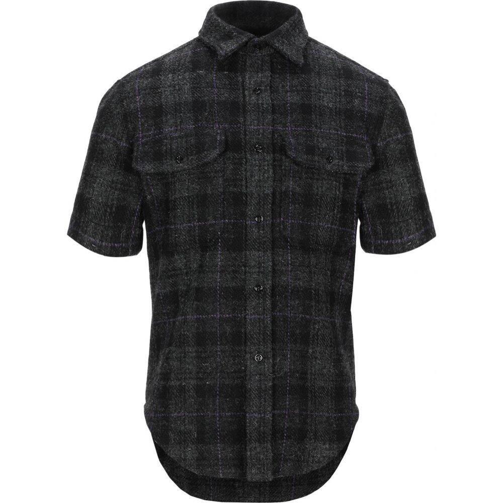 ラフ シモンズ RAF SIMONS メンズ シャツ トップス【checked shirt】Steel grey