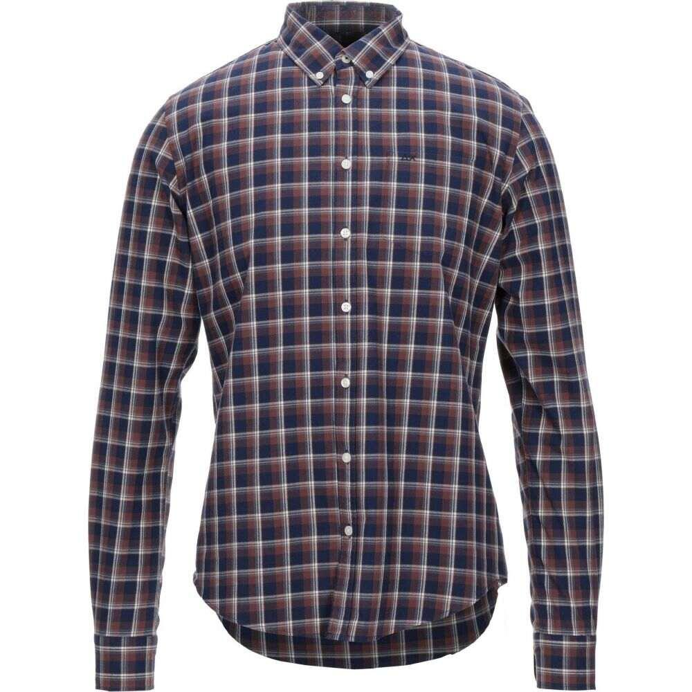 サン シックスティーエイト SUN 68 メンズ シャツ トップス【checked shirt】Cocoa