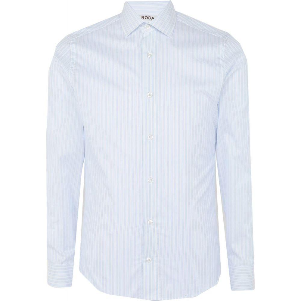 ロダ RODA メンズ シャツ トップス【striped shirt】White