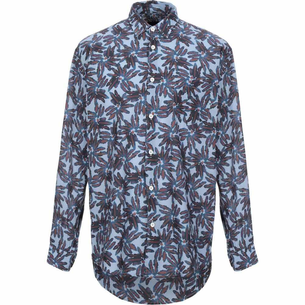 パウラ PAURA メンズ シャツ トップス【patterned shirt】Sky blue