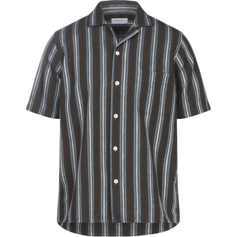 プレジデンツ PRESIDENT'S メンズ シャツ トップス【striped shirt】Military green