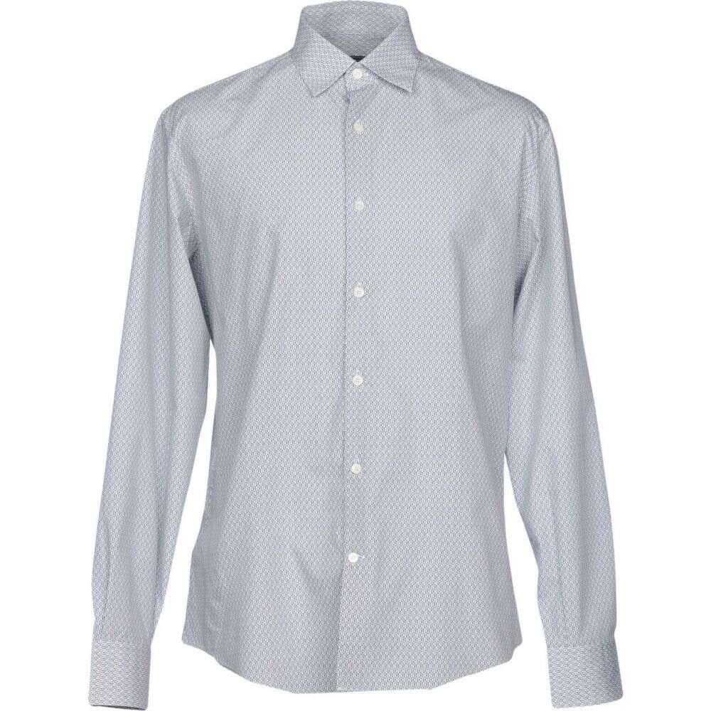 サルヴァトーレ フェラガモ SALVATORE FERRAGAMO メンズ シャツ トップス【patterned shirt】White