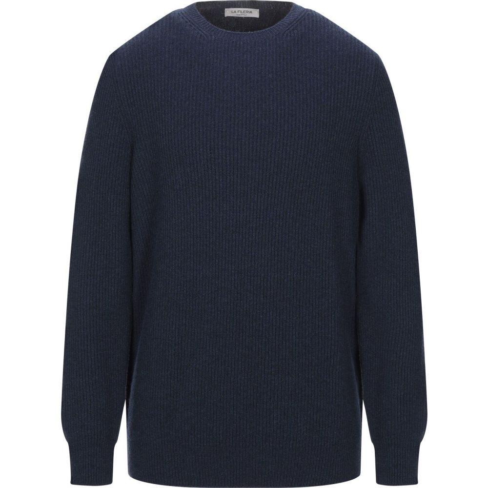 ラ フィレリア LA FILERIA メンズ ニット・セーター トップス【cashmere blend】Dark blue