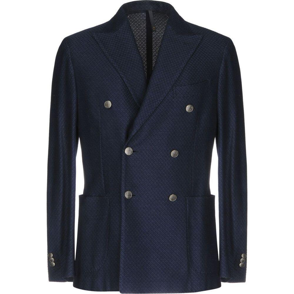 モンテドーロ MONTEDORO メンズ スーツ・ジャケット アウター【blazer】Dark blue